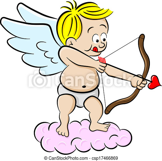 cupid with bow and arrow - csp17466869