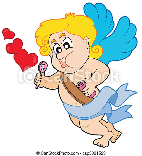 Cupid with bubble maker - csp3031523