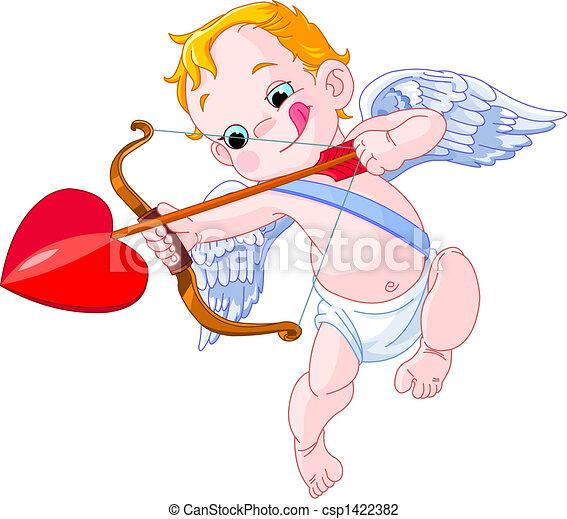 Pousse sien valentine 39 s illustration cupidon - Dessin de cupidon ...