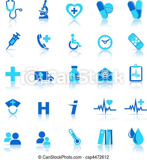 cura, salute, icone - csp4472612