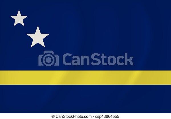 Curacao waving flag - csp43864555