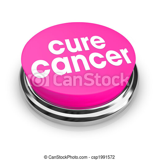 Cure Cancer - Pink Button - csp1991572