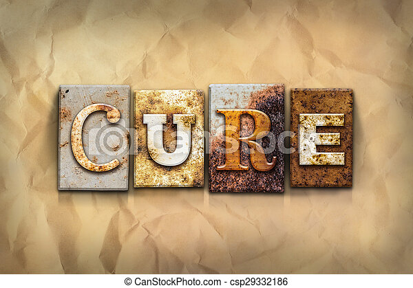 Cure Concept Rusted Metal Type - csp29332186