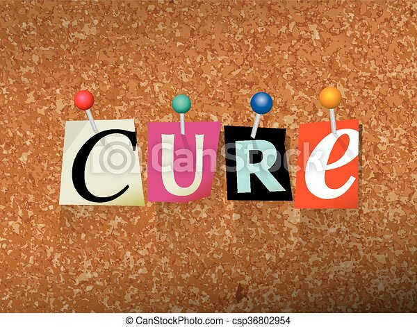 Cure Pinned Paper Concept Illustration - csp36802954