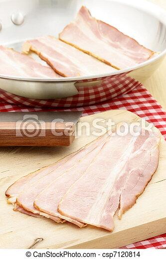 cured delicious bacon - csp7120814