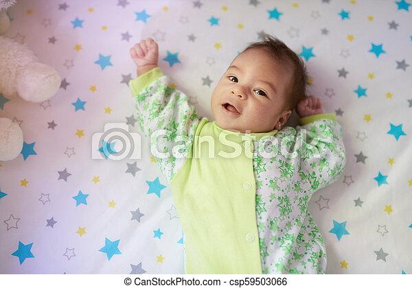 Curios little baby girl - csp59503066