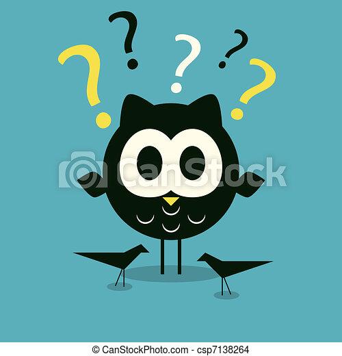 Curios owl background - csp7138264