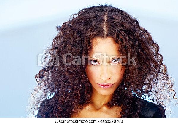 Curl hair woman - csp8370700