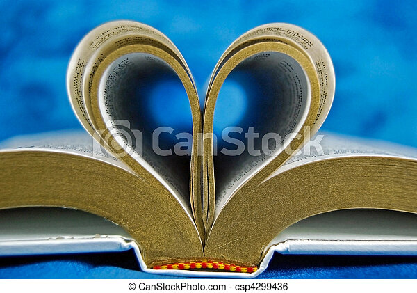 curled Bible page - csp4299436