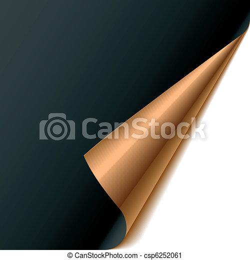 Curled corner - csp6252061