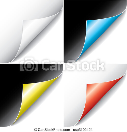 Curled Pages (vector) - csp3102424