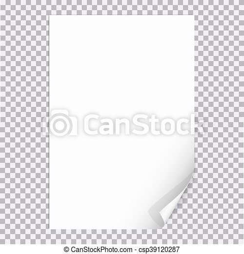 Curled Paper Corner A4 Format With Transparent Background For Shet Of Page Design Document