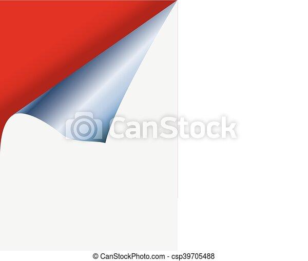 Curled Paper Corner - csp39705488