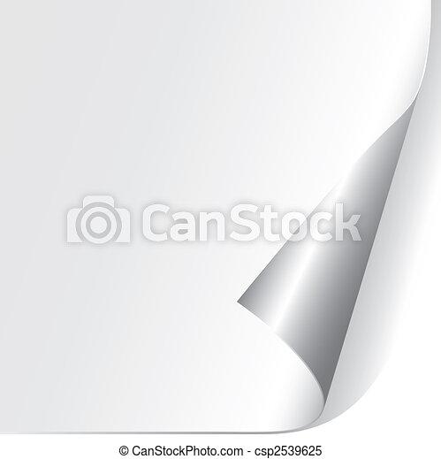 Curled Paper Corner - csp2539625