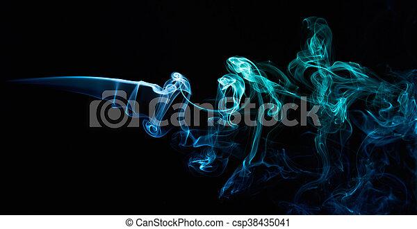 curles, 優雅である, 煙 - csp38435041