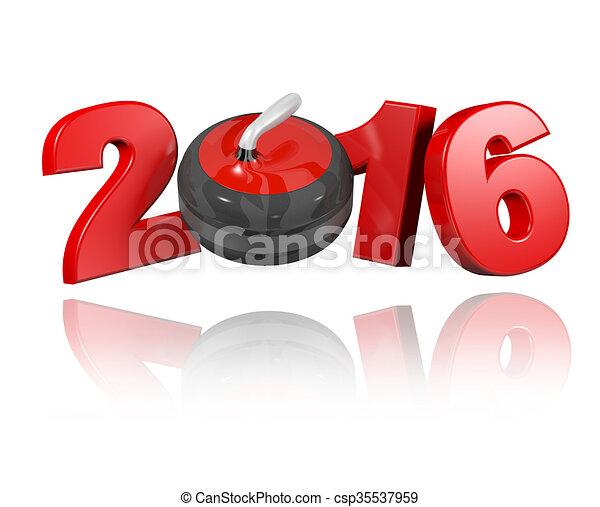 Curling 2016 design - csp35537959