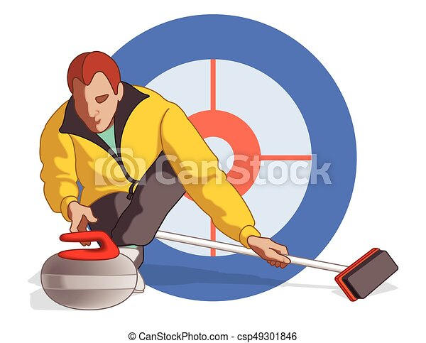 curling player male - csp49301846
