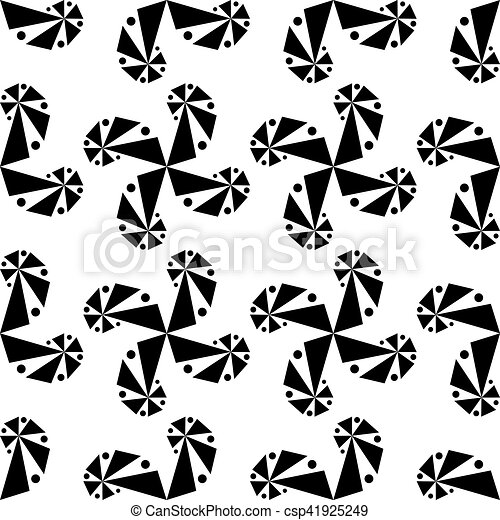 Curls of geometric shapes on a white background. - csp41925249