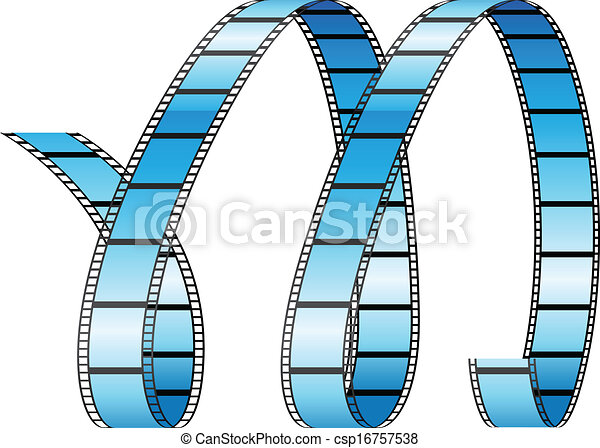 Curly Film Reel Forming Letter M - csp16757538
