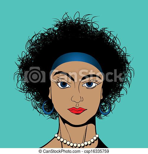 Curly hair girl - csp16335759