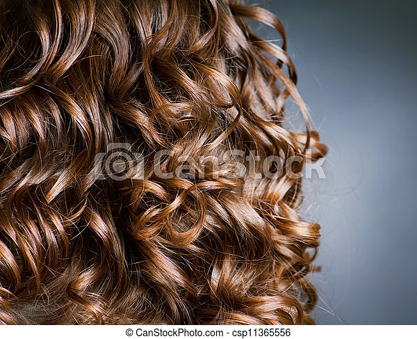 Curly Hair. Hairdressing. Wave .Natural Hair - csp11365556