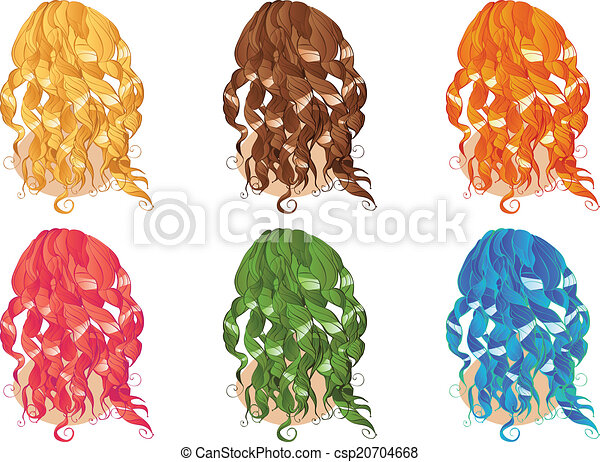 Curly Hair Styles - csp20704668