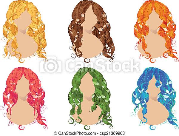 Curly Hair Styles - csp21389963
