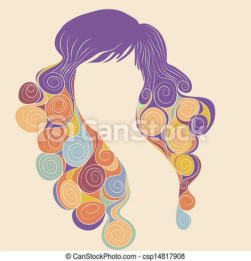 Curly hair - csp14817908