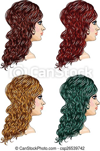 Curly Hairstyle - csp26539742