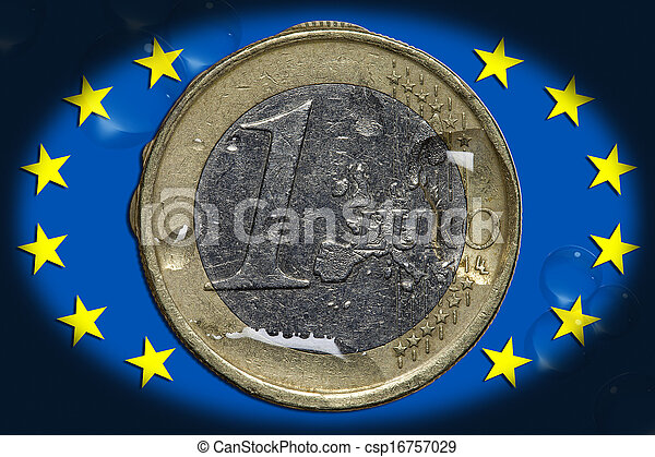 Currency - 1 Euro - csp16757029