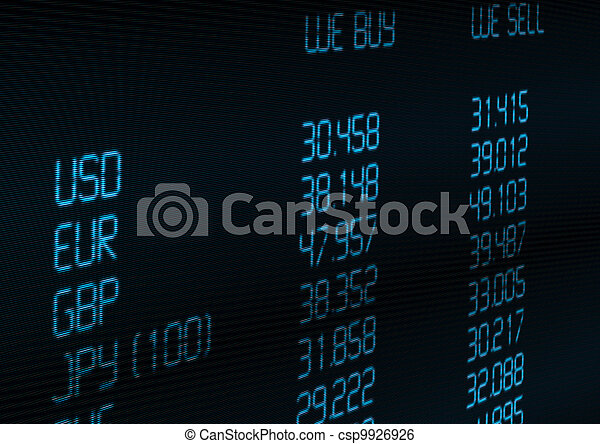 Currency Exchange Rate - csp9926926