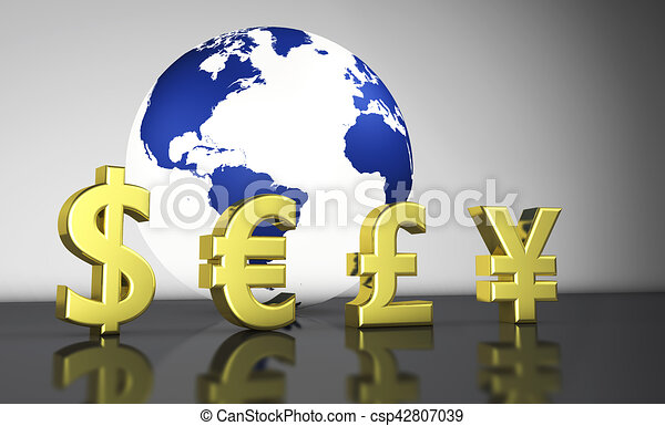 Currency Exchange Symbols World Economy Concept International World