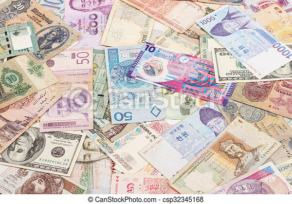 currency from around the world - csp32345168