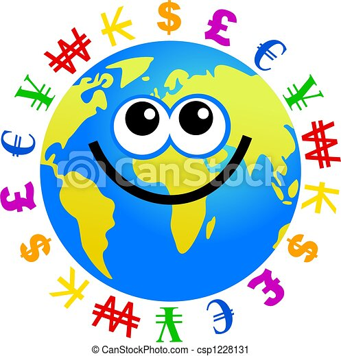 currency globe cartoon world globe man surrounded by clipart rh canstockphoto com currency clipart philippine currency clipart