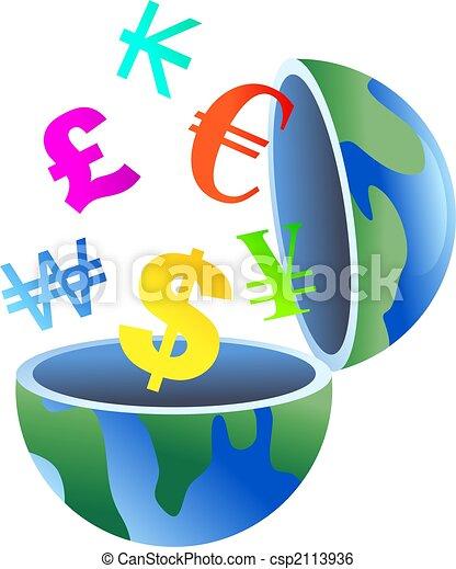 currency globe - csp2113936