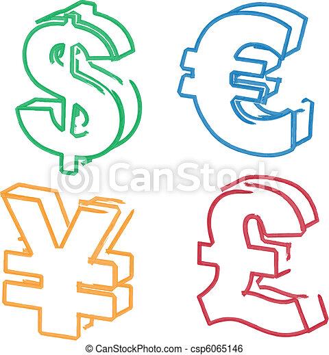Currency Symbol Illustrations Currency Symbol Illustration