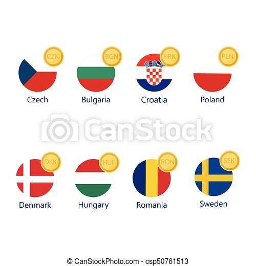 Currency symbols and flags