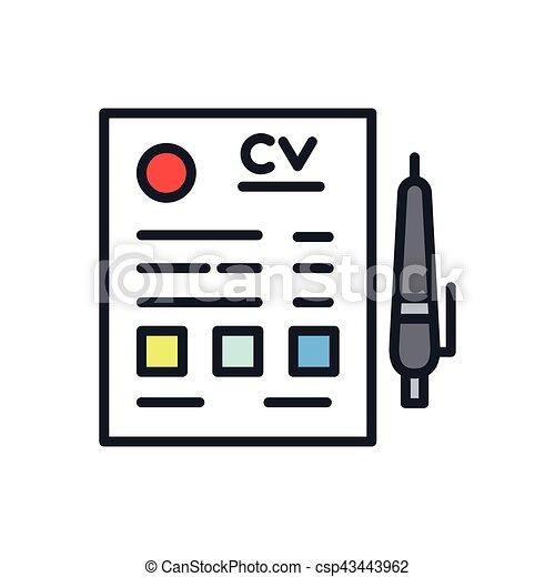 Curriculum Vitae Icon Color