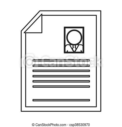 Flat Design Curriculum Vitae Icon Vector Illustration