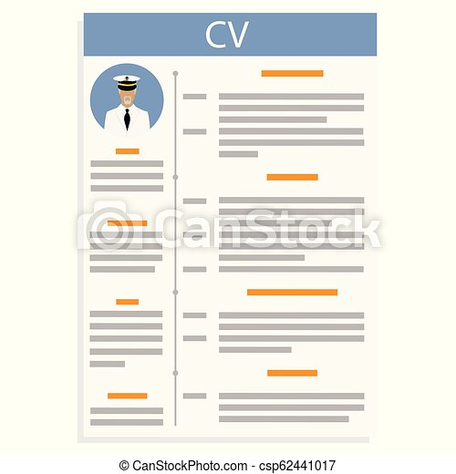 Curriculum Vitae Vector Vector Illustration Cv Or Resume Design