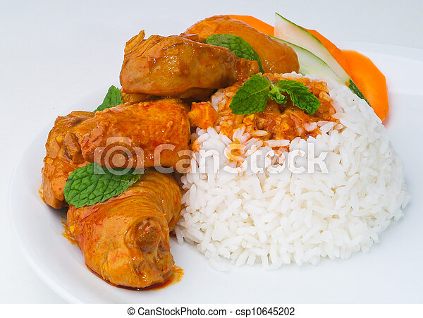 Curry Chicken with rice - csp10645202