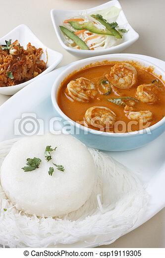 curry, garnele, goan - csp19119305