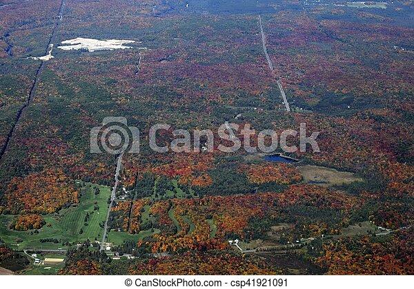 Campo de golf Bracebridge aéreo - csp41921091