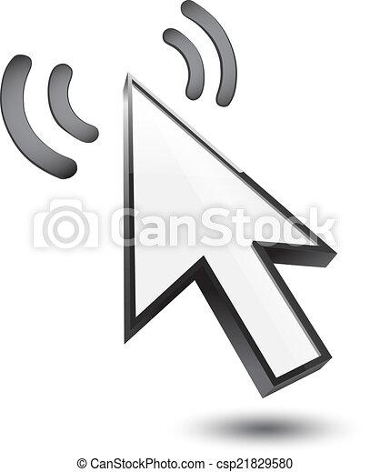 Maldito icono 3D - csp21829580