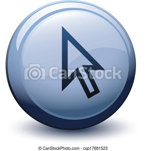 Botón 3D flecha superficial blanco - csp17681523
