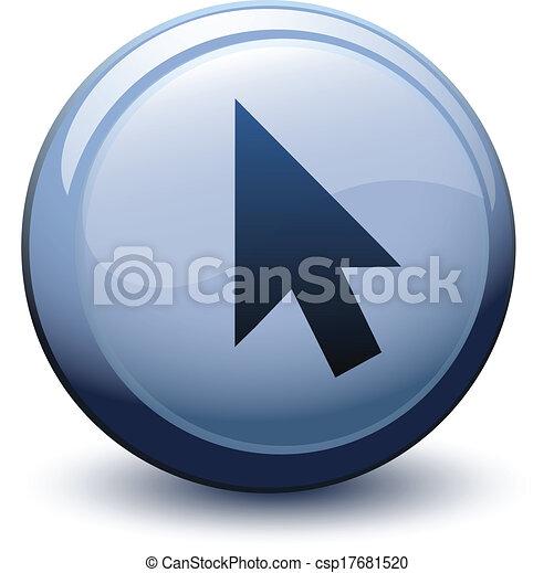 Botón 3D flecha cursor negro - csp17681520
