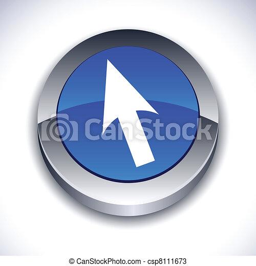 Cursor 3d botón. - csp8111673