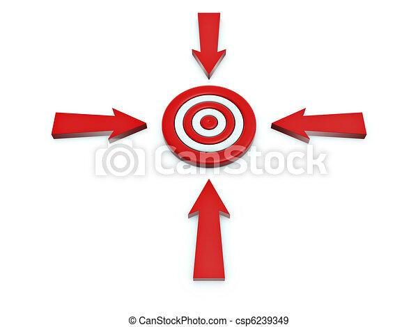 Cursor click en el blanco - csp6239349