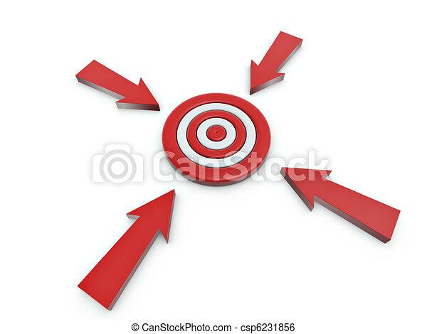 Cursor click en el blanco - csp6231856