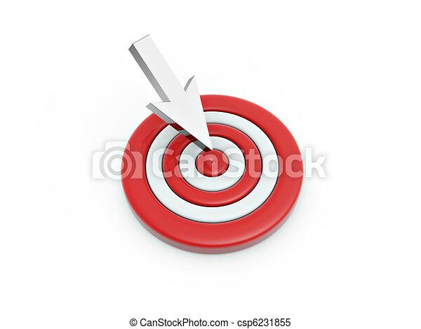 Cursor click en el blanco - csp6231855